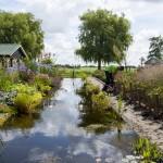 Landelijke tuin en waterpartij