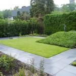Zicht op nieuwe tuin te Wassenaar.