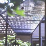pergola metaal en draadglas