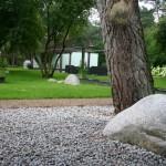 Bomen in tuin te Bosch en Duin.
